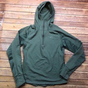 Nike FITdry Hooded Half Zip Running Jacket